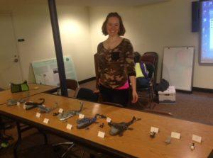 Rachel Prokopius presenting her Cetology whales